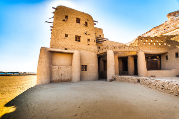 Majestic berber tribe large house made of clay and wood