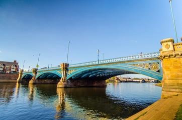 Steel bridge on the river Trent