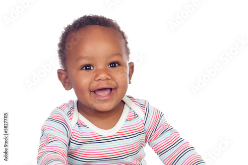 Adorable african baby smiling