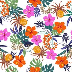 ハイビスカス花柄