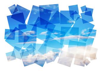 blue sky composition