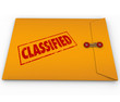 Classified Envelope Private Secret Plans Data