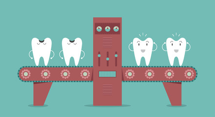 Dental machine, Idea concept