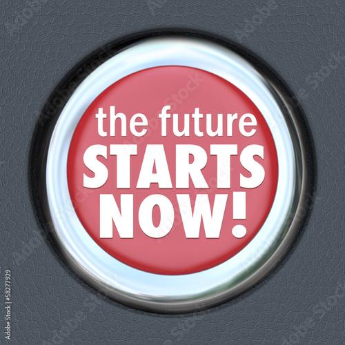 Futre Starts Now Car Start Button New Technology