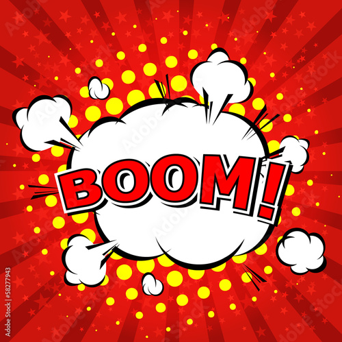 Boom! - Comic Speech Bubble, Cartoon