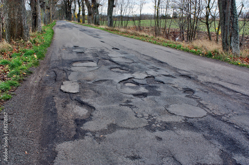 Damaged asphalt
