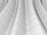 Abstract wavy wire-frame surface, 3D