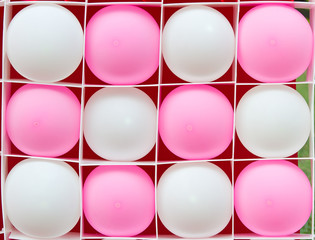 color balloons in the box