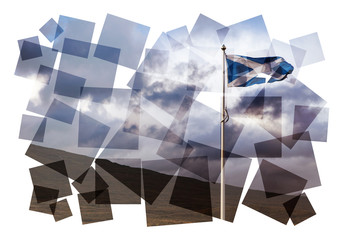 scotland flag collage