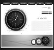 Website template presentation watch vector design