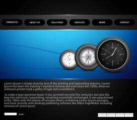 Website template presentation watch bright colorful vector desig