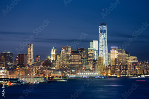 New York skyline de nuit