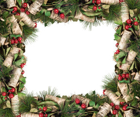 Merry Christmas and Happy New Year. Christmas frame.