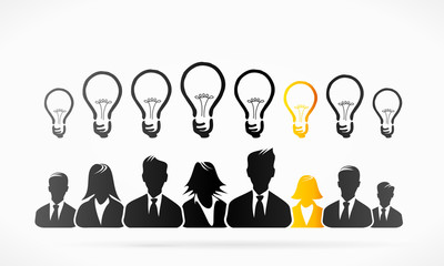 Group ideas business people abstract vector illustration