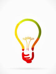 Multicolor idea logo concept abstract vector illustration