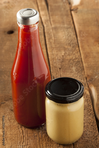 Organic Healthy Ketchup and Mustard