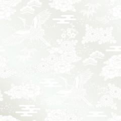 白無垢 鶴 和風背景