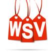 Drei Anhänger mit WSV rot
