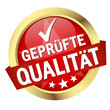 """Button mit Banner """" GEPRÜFTE QUALITÄT """""""
