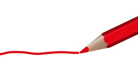 roter Stift zieht Linie