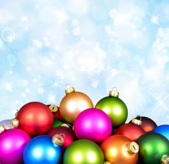 Bunte Weihnachtskugeln