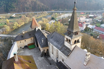 Roof and tower of Orava castle, Slovakia