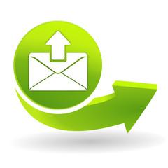 message envoyé sur symbole vert