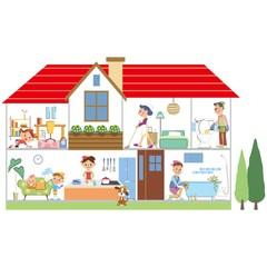 家族でお家まるごと掃除