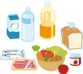 スーパーマーケットの食料品