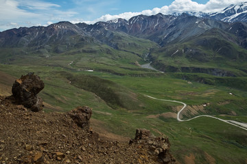 Denali's Mountains and Valleys