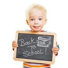 Tafel mit Back to School!