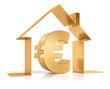 Euro und Symbolhaus Gold 2