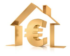 Euro und Symbolhaus Gold 1