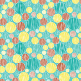 Bright seamless pattern in retro style, vector background