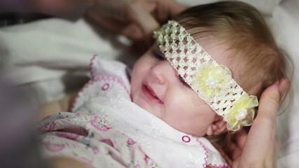 Dressing the baby headbands