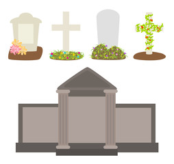 Vector graveyard illustration