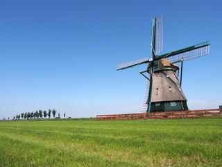 Windmill at Beemster Polder, Netherlands