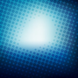 blue halftone design background vector