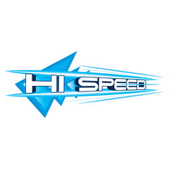 Hi Speed Concept vector
