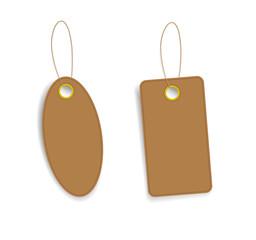 Brown price tags