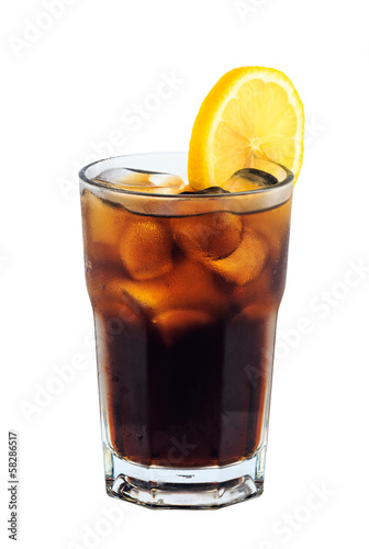 cocaine cocktail isolation on white background