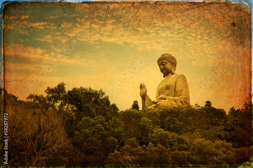 Fotobehang Hong-Kong The Great Buddha of Po Lin Monastery - Hong Kong