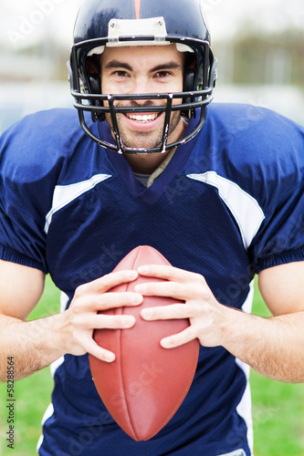 Man wearing American football kit