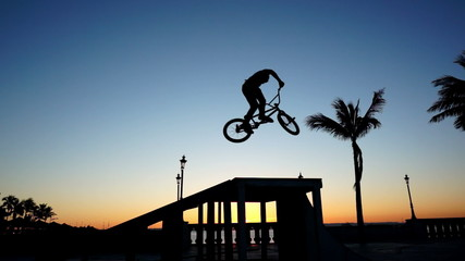 BMX 360 Silhouette Slow Motion