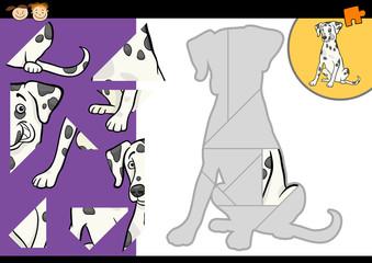 cartoon dalmatian dog puzzle game