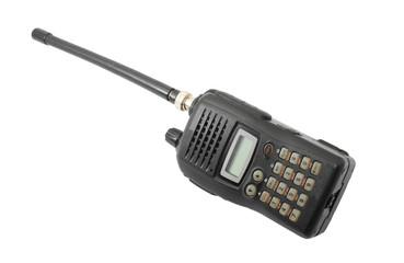 Black ham radio isolated on white