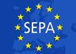 Europakarte mit SEPA und Sternen