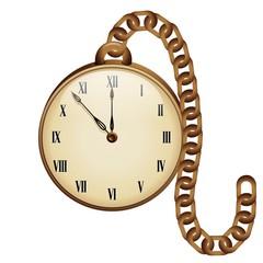 Vintage Pocket Clock-Orologio Antico da Taschino