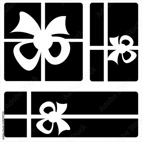 gift box icons on white background