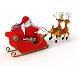 Santa claus with his sleigh